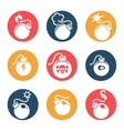 Bombs flat icons set vector image