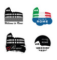 colosseum rome sign vector image