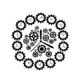 gear clock vector image