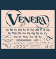 a decorative typeface with vintage monograms vector image