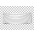 blank horizontal banner streamer mockup vector image vector image