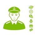 Captain Icon With Free Bonus vector image vector image