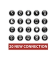 connection buttons set vector image