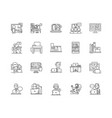 coworking line icons signs set outline vector image vector image