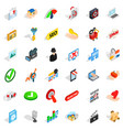 cyber security icons set isometric style vector image vector image