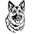 decorative portrait of dog shepherd 2 vector image vector image