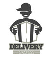 delivery service or express shipment shop vector image vector image