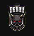 demon mascot logo design with modern vector image
