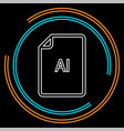 download ai document icon - file format vector image