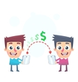 Easy way to send money vector image vector image