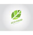 Eco Organic Health Food Market Logo Template vector image
