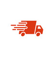 fast delivery truck icon graphic design template vector image vector image