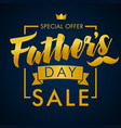 fathers day sale gold lettering banner vector image