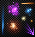 Festive color firework set vector image vector image
