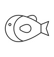 fish icon image vector image vector image