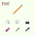 flat icon equipment set of marker drawing tool vector image vector image