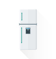 flat style white kitchen refrigerator vector image