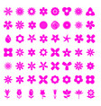 flower 56 simple icon set vector image vector image