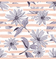 flower pattern seamless elegant pastel striped vector image vector image