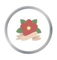 Flower tattoo emblem icon cartoon Single tattoo vector image vector image