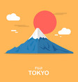 fuji mouthain gorgeous place in tokyo design vector image vector image