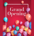 grand opening invitation with white frame and vector image vector image