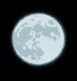 halloween comic icons - black cat aginst moon vector image vector image