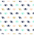 hand drawn seamless pattern with open eyes vector image