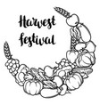 harvest decorative element autumn vector image vector image