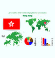 hong kong all countries of the world infographics vector image