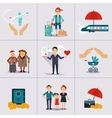 Insurance Character and Icons Template vector image vector image