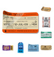 isolated object ticket and admission icon set vector image vector image
