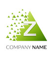 letter z logo symbol in colorful triangle vector image vector image
