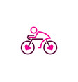 love bike logo icon design vector image vector image