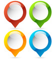 map marker map pin icon in 4 colors vector image vector image