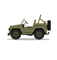 military army car jeep vehicle humvee vector image