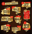 modern sale labels and baners origami style vector image vector image