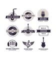 music brand logos vector image vector image