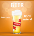natural beer concept banner realistic style vector image vector image