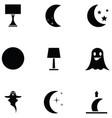 night icon set vector image vector image