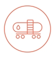 Oil tank line icon vector image vector image