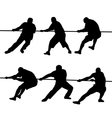 People pulling rope vector image