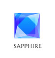 sapphire shining logo isolated on white vector image