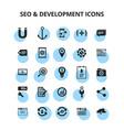 seo development icons vector image vector image