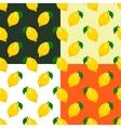 Set of lemons seamless patterns vector image
