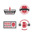 set of vintage logo badge emblem or logotype vector image vector image