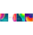 set square liquid color abstract geometric vector image vector image