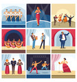 singers and musicians on concert stage vector image vector image