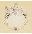 Sketch castle background vector image vector image
