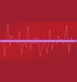 sound waves oscillating glow neon light spectrum vector image vector image